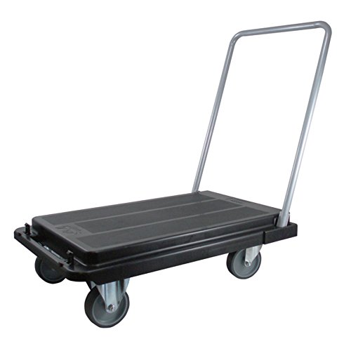 Deflecto Foldable Platform Cart Dolly, Heavy Duty Casters, 500 lb Capacity, Black by Deflecto