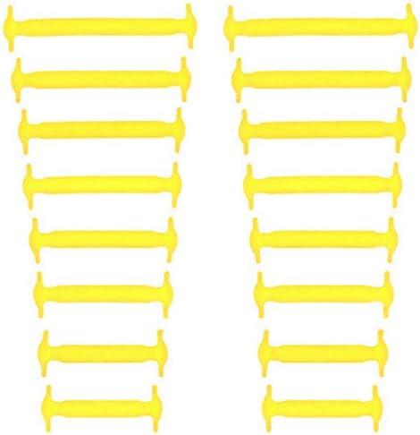 結ばない靴紐 シリコン素材 男女兼用 高い伸縮性 簡単に着脱が出来る! イエロー AP-TH218-YE