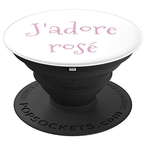 J'adore Rose Wine Lover Phone Accesory PopSockets Grip and Stand for Phones and Tablets