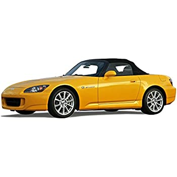 Fits: Honda S2000 Convertible Top (2000-01) Black Stayfast Cloth with Glass Window Black