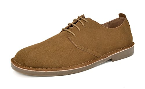 Bruno Marc Men's Tan Oxford Shoes Suede Leather Dress Shoes Francisco-Low - 9.5 M US