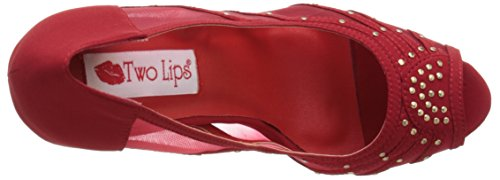 Ladyred Lips Ladyred Two Womens Red dtXwv7Fq