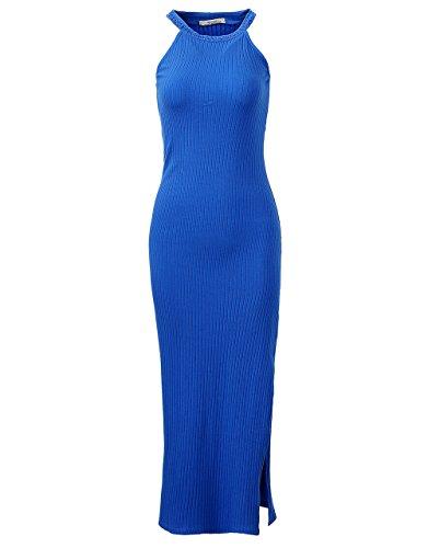 Glo-Story - Vestido - ajustado - para mujer Azul