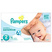 Pampers Swaddlers Sensitive Disposable Diapers Size 2, 76 Count, SUPER (Packaging May Vary)