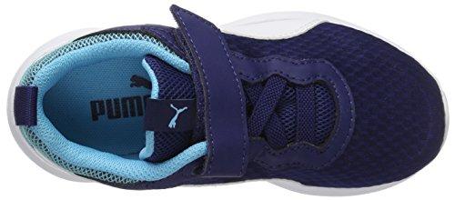 Puma Pacer Evo V PS, Zapatillas Unisex Niños Azul (Blue Depths-white)