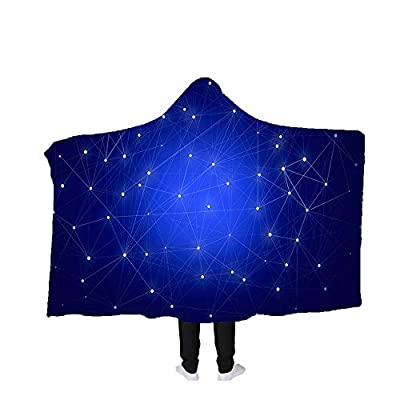 Art's Fashion 3D Printed Wearable Blankets Hooded Blankets Throw Hooded Towels Bathrobe Cloak Cozy Swaddling Blankets Galaxy Pattern