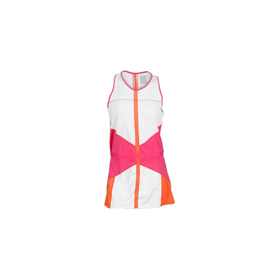 Lucky in Love Ladies Pink Color Block Tennis Dress (XS)