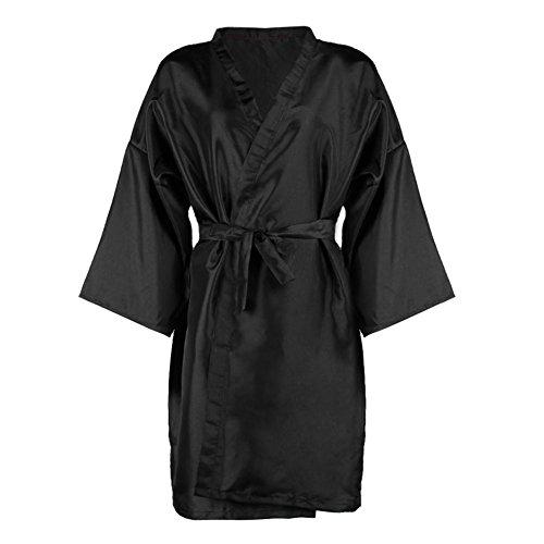 Robe 1 - ForU-1 Hairdressing Barber Gown Bathrobe Waterproof Beauty Salon Wear Tools Black
