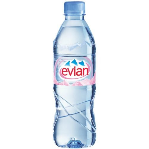 Evian Natural Spring Water, 500 Milliliter - 24 per case.