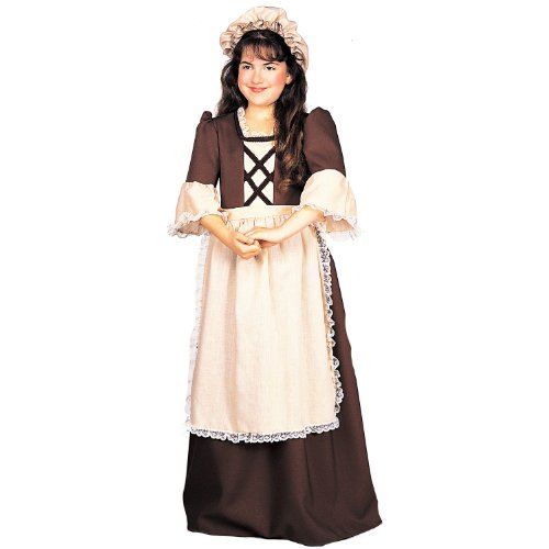 [Colonial Girl Costume - Medium] (Colonial Dress For Girls Costumes)