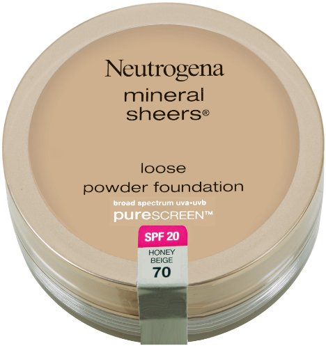 Neutrogena Mineral Sheers Loose Powder Foundation with PureScreen, SPF 20, Honey Beige 70