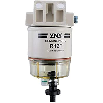 Ebely R12T Fuel Fittings Marine Spin-on Fuel Filter Water Separator 120AT NPT ZG1/4-19 Fit Gasoline Engine and Diesel Engine
