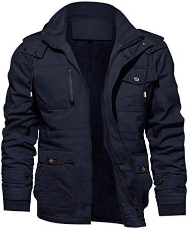 KEFITEVD メンズ 作業服 防寒着 防寒コート 裏ボアコート 冬 裏起毛 ジャンパー フード 着脱 モッズコート
