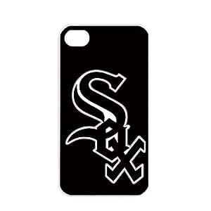 MLB Major League Baseball Chicago White Sox Apple iPhone 4 / 4s TPU Soft Black or White case (White)