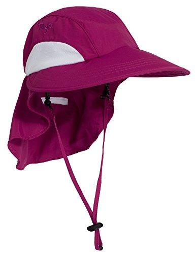 - Tuga Adult Unisex Sol Wide Brim Hat (UPF 50+), Cranberry, Adult Unisex Medium