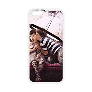 iPhone 6 Plus 5.5 Inch Cell Phone Case Covers White boy Girl Kiss Loves dftp
