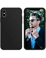 for iPhone X Case, OTOFLY [Silky and Soft Touch Series] Premium Soft Silicone Rubber Full-Body Protective Bumper Case Compatible with Apple iPhone X XS(ONLY) -