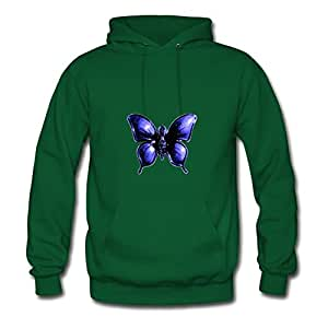 Blue Butterfly Painting X-large Series Long-sleeve Women Custom