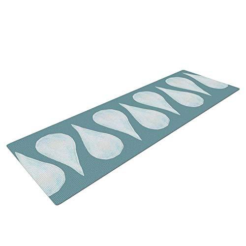 (Yummy Eletina Jennifer Rizzo Altered Raindrops Blue Abstract Mat, 72