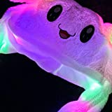 Bunny Hat Funny LED Hat with Moving Ears for Women