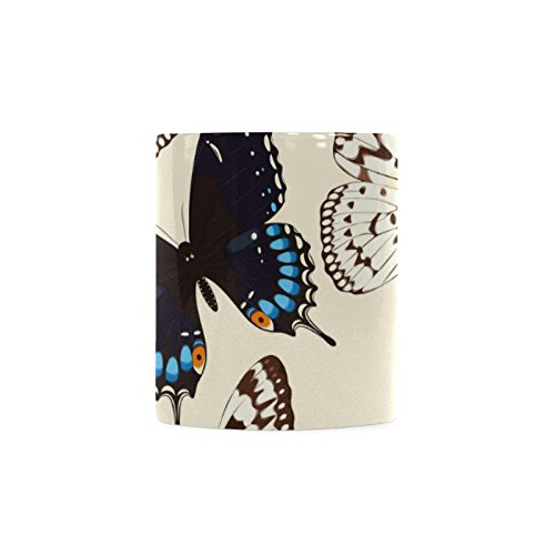 Butterfly White Ceramic Coffee Mug Tea - In Ray X Glasses India