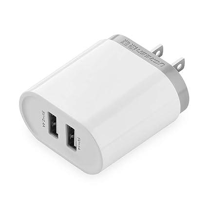 Amazon.com: Cargador de pared, Ugreen Dual USB Teléfono ...