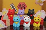 6pcs Japanese Iwako Erasers-Lucky Cat (Welcome Cat)