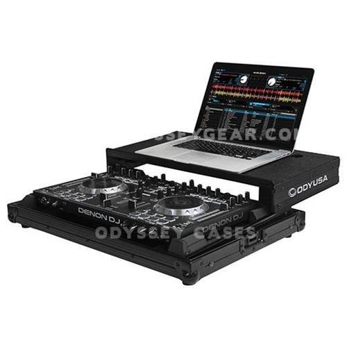 Odyssey Innovative Designs Black Label Low Profile Glide Style Case for Denon DN-MC4000 Serato Intro DJ Controller