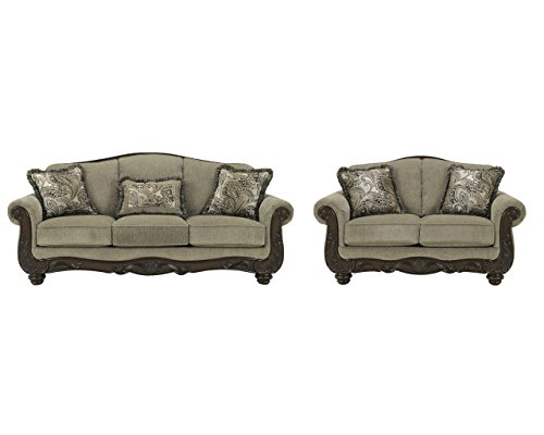 Signature Design by Ashley Martinsburg Living Room Set with Sofa and Loveseat ()