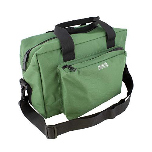 MonMed Green Nylon Medical Equipment Nursing Clinical Bag – Nurse Organizer Bag for Doctor and Home Medical Supplies - Health Bags Home