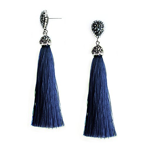 rings Dangle Vintage Fringe Dangling Stud Earrings Handcrafted Jewelry for Women ()