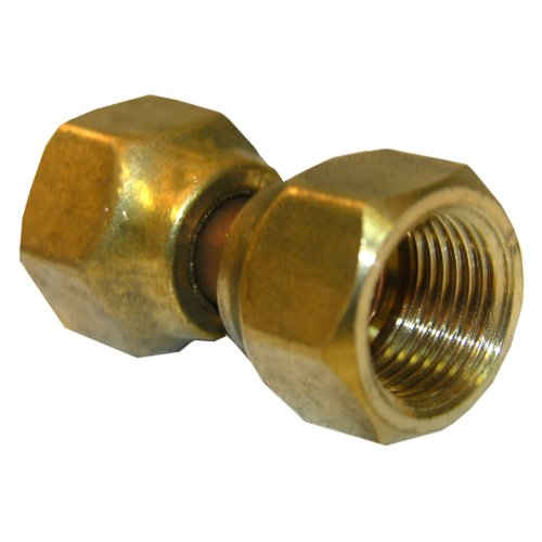 LASCO 17-5949 1/2-Inch Female Flare Swivel Brass Adapter