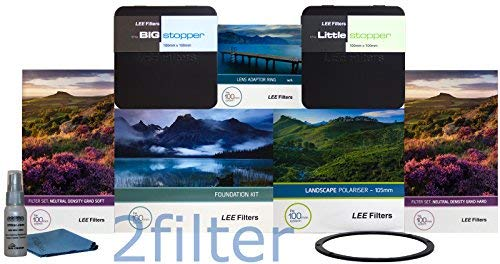 Lee Filters 82mm Ultimate Landscape Kit - FK Holder, 82mm w/a ring, Soft and Hard Edge Set, Big and Little Stopper, Lee 105mm Slim Landscape CPL & Front Accessory Ring, with 2filter cleaning kit