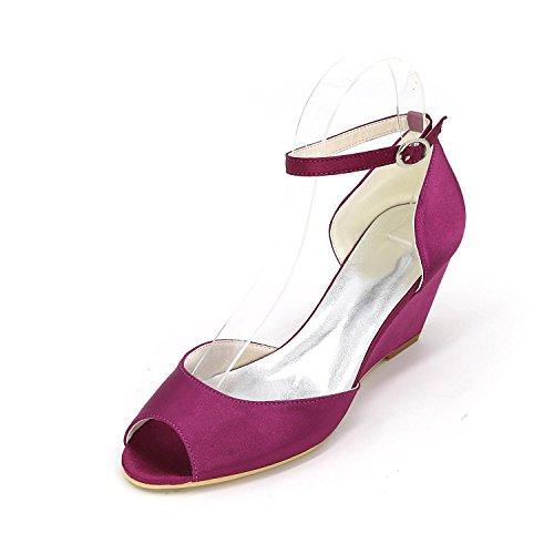 L@YC Women's Shoes Stiletto Heel Peep Toe Sandals Wedding Multicolor Purple VX1Ic4o