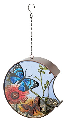 Regal Art & Gift 11686 Hand Painted Bird Feeder, Butterfly