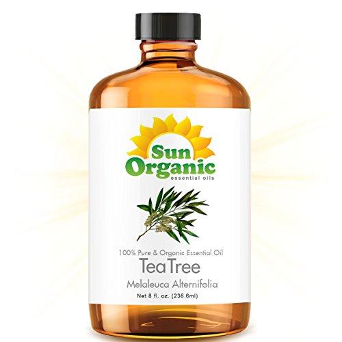 Tea Tree - MEGA 8 унций - органическая, 100% чистые эфирные масла (Best 8 жидких унций / 236ml) - Sun Органическая