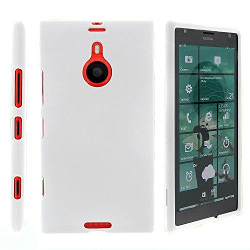 MINITURTLE Case Compatible w/Lumia 1520, Solid Color Hard Snap On Cover w/Feel for Nokia Lumia 1520 (AT&T) White (938 Case Nokia Lumia)