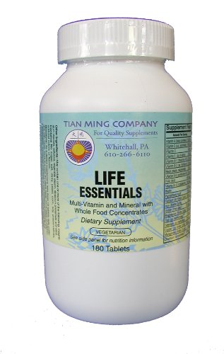 Healthy Aging Nutraceuticals Life Essentials Multi-Vitamin And Mineral With Whole Food Concentrate 180 Veg Tablets