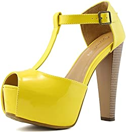 Amazon.com: Yellow - Pumps / Shoes: Clothing- Shoes &amp- Jewelry