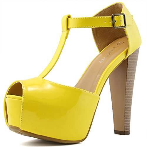 Yellow Platform Shoes - 2