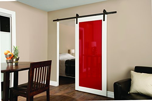 Barn Door Hardware Kit - 6 1/2 Ft. Straight Strap Sliding Barn Doors - Bronze by Renin by Renin