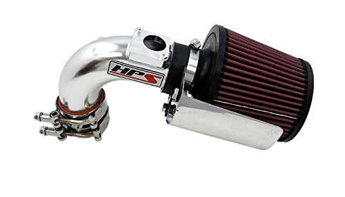HPS 27-165P-2 Polish Short Ram Air Intake Kit with Heat Shield (Non-CARB Compliant)