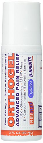Orthogel Advanced Cold Therapy Pain Relief Gel Roll On, 3 oz (Pack of 3)