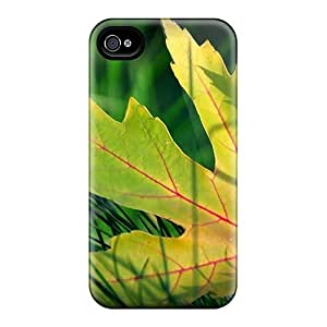 For Oilpaintingcase88 Iphone Protective Cases, High Quality For Iphone 6 Maple Leaf In Grass Skin Cases Covers