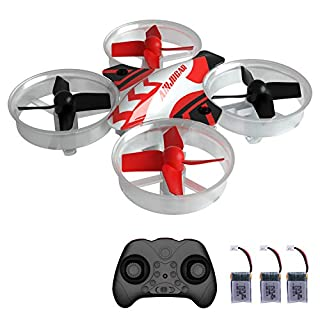 Mini Drone RC Nano Quadcopter for Kids and Beginners, RC Helicopter Plane with Auto Hovering, 3D Flip, Headless Mode and 3 Extra Batteries Toys for Boys and Girls … (Black)