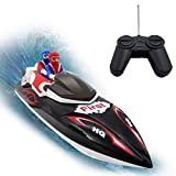 (US) KOLAMAMA RC Boat, Remote Control Boat for Kids&Adults,2.4Ghz 4CH Electric Racing Boat for Pools and Lakes,Kids Boat Toy