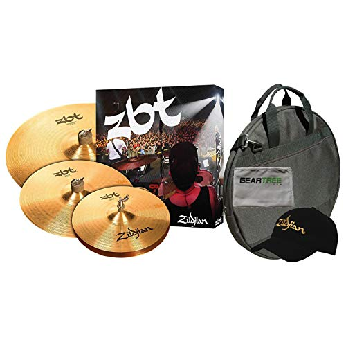 (Zildjian ZBTS3P9 ZBT3 Cymbal Box Set with Free 14 Inch ZBT Crash and Gig Bag)