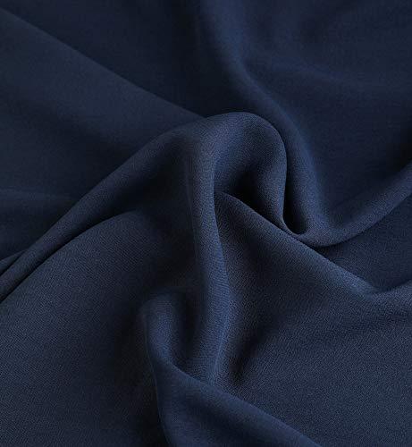 1 Longue Superora Chemisier Col V Manche Bleu Femme Fluide pour Blouses U7v47wI