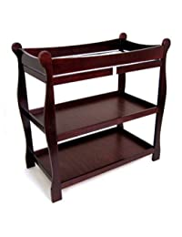 Badger Basket Sleigh Baby Changing Table, Wood Cherry BOBEBE Online Baby Store From New York to Miami and Los Angeles