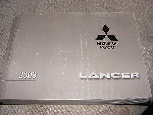 2009 mitsubishi lancer owners manual guide book mitsubishi amazon rh amazon com mitsubishi lancer 2009 gts owners manual Used 2009 Mitsubishi Lancer